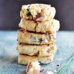 Ciastka z szynką, serem i szczypiorkiem