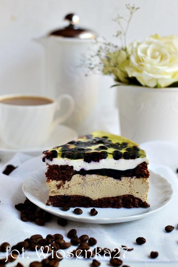 Ciasto kawowo jagodowe