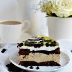 Kawowe ciasto z borówką
