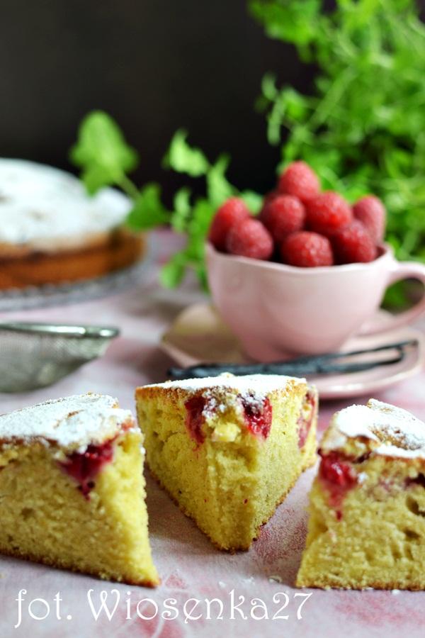 Ciasto z malinami waniliowe
