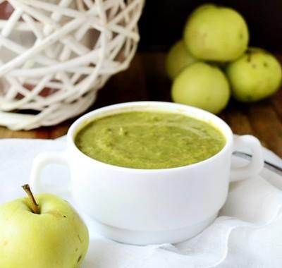 Zupa kremowa z porów i jabłek