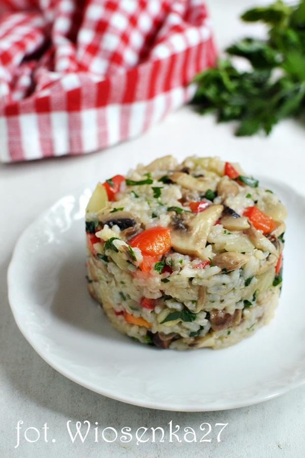 Ryż z poieczarkami