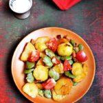 Ziemniaki z bobem  pomidorami