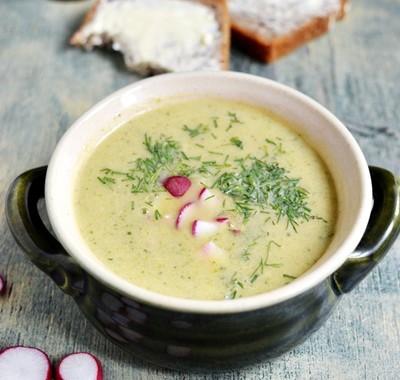 Zupa kremowa  z cukinii i porów