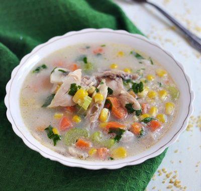 Zupa warzywna z kaszą bulgur