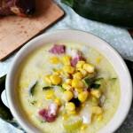 Zupa z kukurydzą i cukinią