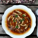 Zupa z pieczarkami i soczewicą